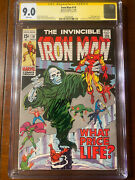 Iron Man 19 11/69 Cgc 9.0 White Pages Ss Stan Lee Nice