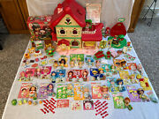 🍓 Huge Lot 1983 Strawberry Shortcake Berry Happy Home Dolls Pets And More 🍓