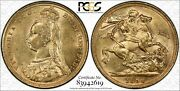 1890s Sovereign Jubilee Head Mcd180 S-3868 L1 In Pcgs Au58 Very Scarce Variety