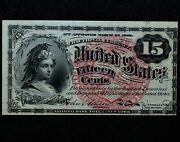 15c Fractional Note ✪ Au Almost Uncirculated ✪ 4th Issue L@@k Now M114 ◢trusted◣