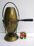 Antique Wmf Germany Brass Coffee Maker Percolator With Burner And Stand