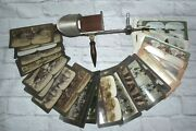 Antique Underwood And Underwood Sun Sculpture Stereoscope Stereo Viewer And 31 Cards