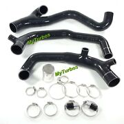 Black 2 Inletsandoutlet Silicone Hose Pipe For Bmw 335i 335xi 3.0l N54 2007-2010