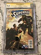 Superman Unchained 1 9.8 Cgc Dc Graded Comic Book Signed 4x Snyder Lee ++ Kb2