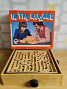 Vintage 70s Wooden Marble Maze Board Game - Super Rare - Stunning Condition
