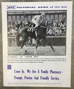 Vintage 70s Horse Racing Pni Pictorial News Article Poster Farewell To Super Red