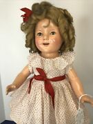 18andrdquo Antique Ideal Compo Shirley Temple Doll 1930andrsquos Polka Dot Dress Original Sf