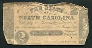 1861 2 The State Of North Carolina Raleigh Nc Obsolete Currency Noteandnbsp
