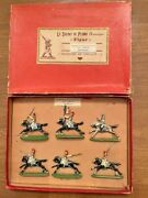 Large Lot Vintage French Napoleonic Lead Toy Soldiers Mounted In Boxes