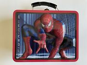 Tin Metal Lunch Snack Toy Box Embossed Spider-man Building Web Slinger Defect