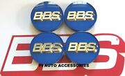 New Real Bbs Blue With Gold 3d Logo 56mm Center Caps 56.24.203 Or 56.24.012