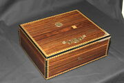 Elie Bleu Medailles Medals And039rosewoodand039 75ct Humidor New 048