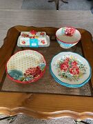 The Pioneer Woman Butter Dish Serving Bowl 4 Mix And Match Floral Plates