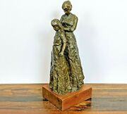 Dennis Smith Limited Edition Bronze Mother And Daughter Sculpture 4/30