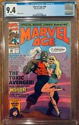 Marvel Age 98 Cgc 9.4 Wp Preview And Cover Appearance Of The Toxic Avenger