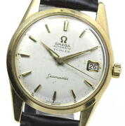 Omega Seamaster 18k Solid Gold Cal.562 Silver Dial Automatic Men's Watch_615086