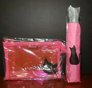 New 2021 Cat Lady Box Neon Vibes Exclusives-pink Cat Umbrella And Zip Pouch Bag