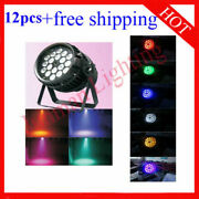 1818w Rgbwauv 6 In 1 Waterproof Zoom Led Stage Par64 Light 12pcs Free Shipping