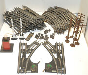 Original Prewar Lionel O Gauge Track Lot 50+pc Straights And Curved And Switches