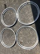 """4-15"""" Old Style Trim Rings. 1940-1966. Used"""