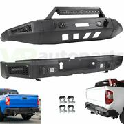 Front Rear Bumper Withwinch Plate Lights D-rings For 2014-2019 Toyota Tundra