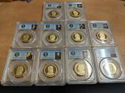 10 Different Presidential Dollars Pcgs Proof 69dcam