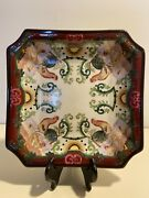 Hua Rong Tang Chinese Antique Rooster Plate