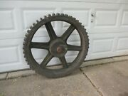 Antique Large Factory Wooden Gear Steam Punk Industrial