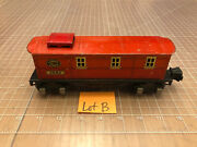 Lionel Lines Train Red Tinplate Tin Litho 2682 Bunk House Work Caboose Lot B