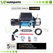 13000lb Electric Winch 12v Synthetic Rope Off-road Atv Utv Truck Towing Trailer