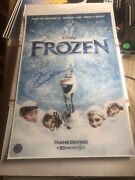 Idina Menzel And Kristen Bell - Frozen Signed Autographed 11x17 Movie Poster Coa