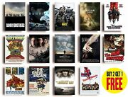 Classic Ww2 Movie Posters World War 2 High Quality A3 / A4 Wall Art