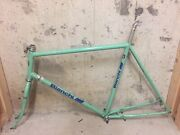 Vintage Bianchi Super Grizzly 22.5 Mountain Road Bike Frame And Fork Package Rare