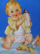 Charlotte Becker 11 X 14 Print, Baby With Bottle