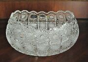 Bohemia Vintage Czech Crystal Hand Cut 10 Oval Bowl Queen Lace