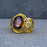 Exclusive Heavy Solitaire Stone Ring 22k Yellow Gold Menand039s Gold Ring Cz Stone 19
