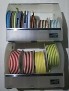 15 Spools Stampin Up Ribbon With Storage Holder Lot Grosgrain Red Brown Blue Etc