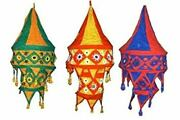50 Pc Wholesale Lot 2 Step Cotton Room Embroidered Garden Indian Lampshade Decor