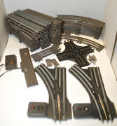 Original Postwar Lionel Ny O Gauge Track Lot 40+pc Straights And Curved And Switches