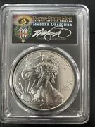 2018 W Proof Silver Eagle Pcgs Ms70 W.p./cleveland Torch First Day Issue Pop 20