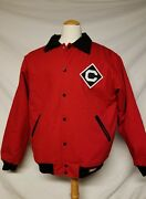 Stall And Dean Cornell University Jacket Varsity Heavy Coat Big Red Xl Button Up
