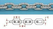 Anchor Chain 200 Ft Stainless Steel 316l 1/4 Din766 Bbb Repl. S0601-0007