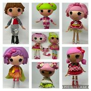 Lot Of 6 Full Size Lalaloopsy Dolls + 2 Plush And Bag Of Minis