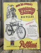 Incredible Vintage Hop-along Cassidy Cowboy Rollfast Bicycle Display Easel Sign