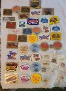 Huge Lot Of 1980and039s Nsra Western Nationals Dash Plaques Hat Pins And Buttons Rod