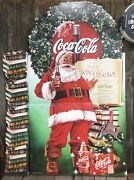 Cool Vintage Coca Cola Holiday Santa Clause Harry Potter Store Display Easel