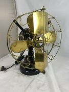 12andrdquo Western Electric Hawthorn Brass Blade And Cage Vane Fan