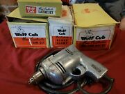 1950and039s Wolf And039cub Home Constructor Drill Set In Original Boxes And Instructions