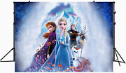 Frozen Girl Backdrop 1st Birthday Baby Shower For Elsa Princess Party Supplies