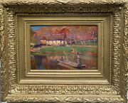 Painting Antique School French - Post Impressionist Pont-aven 1900